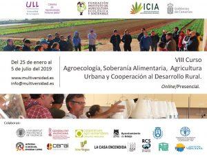 VIII Curso internacional de Agroecología, soberanía alimentaria, Agricultura Urbana y Cooperación al Desarrollo Rural