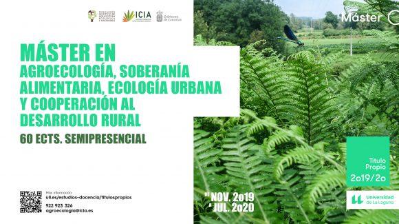 Máster Propio en Agroecología, Soberanía Alimentaria, Ecología Urbana y Cooperación al Desarrollo Rural.