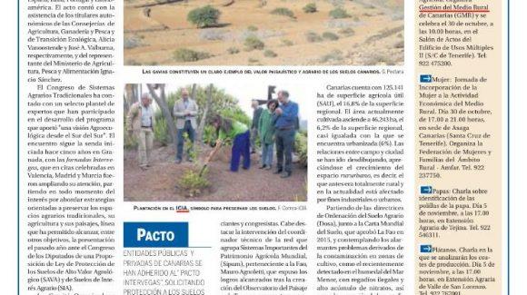 Canarias participa en la protección de sistemas agrarios tradicionales