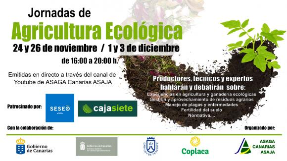 Jornadas de Agricultura ecológica organizadas por Asaga-Asaja, con la colaboracion de Coplaca.