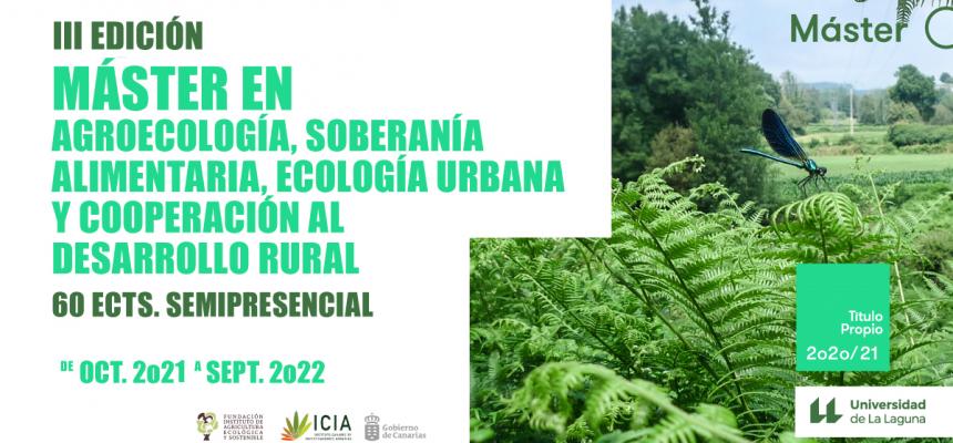 Abierto el plazo de preinscripción para la III Edición del Master Propio en agroecología 2021/2022